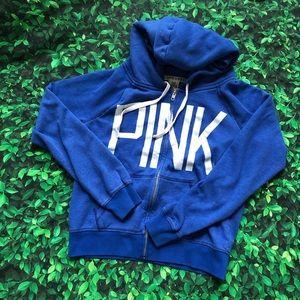 🜃 Pink by Victoria's Secret hoodie | blue | Med